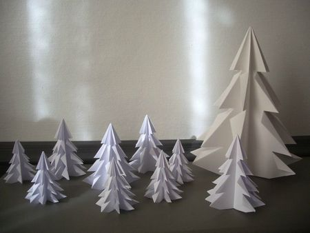 sapin en origami pierre papier ciseaux pinterest arbres origami et hiver. Black Bedroom Furniture Sets. Home Design Ideas