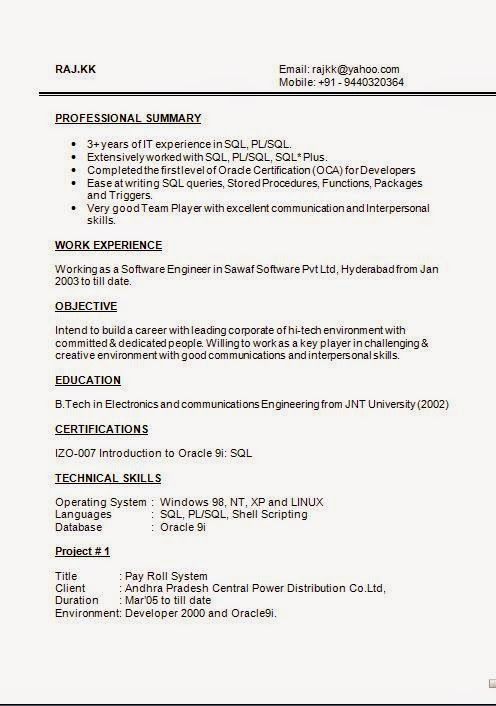 help writing cv Sample Template Excellent Curriculum Vitae CV - sql resume