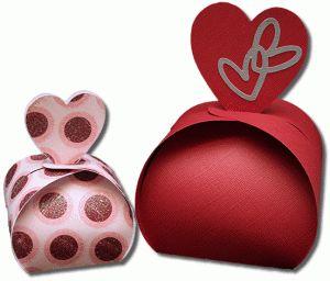 シルエットデザインストア - ビューデザイン#の53427:3D心臓花びらボックス