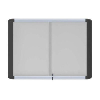 Bi-Silque Visual Communication Product, Inc. Magnetic Enclosed Whiteboard, 3' H x 4' W