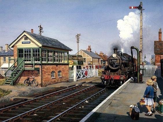 Art Train Journeys : Steam Train Painting by Howard Fogg ...