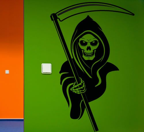 Grim Reaper Wall Decal Wall Sticker