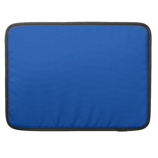 Solid Bright Cobalt Blue Sleeve For MacBook Pro #zazzle