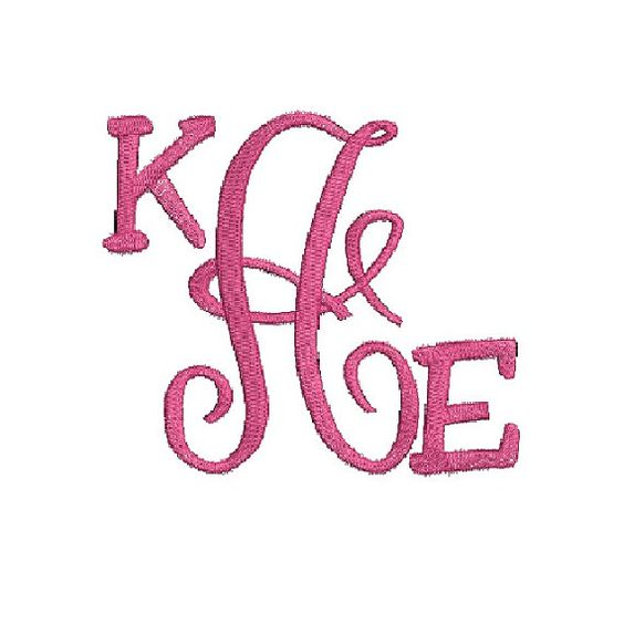 Monogram Embroidery Design, Embroidery Font, Letter Monogram, Custom Design, Embroidery Monogram