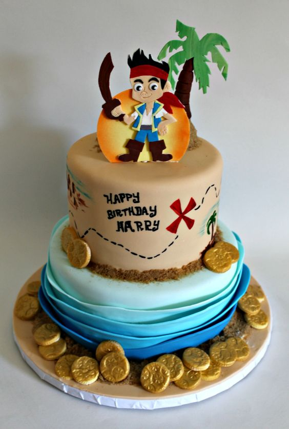Jake The Pirate Cake Designs | Pirate Birthday Cake