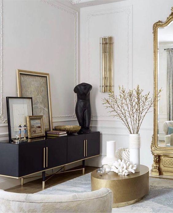 "Atelier di Spera on Instagram: ""Gold 💛 & Black 🖤 colour scheme!! Via @livingedgeinteriors Follow us @atelier_di_spera for daily inspirations 🧡🧡!! #atelierdispera #luxe…"""