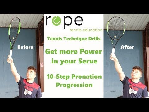 Tennis Technique Drills How To Get More Power In Your Serve 10 Step Pronation Progression Youtube Tennis Techniques Tennis Tennis Serve