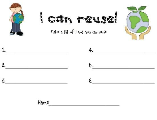 Number Names Worksheets vocabulary lessons for kindergarten : Earth day, Activities and Reuse recycle on Pinterest