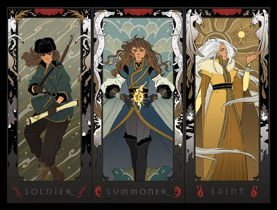 Art for Leigh Bardugo's GRISHA TRILOGY by Irene Koh