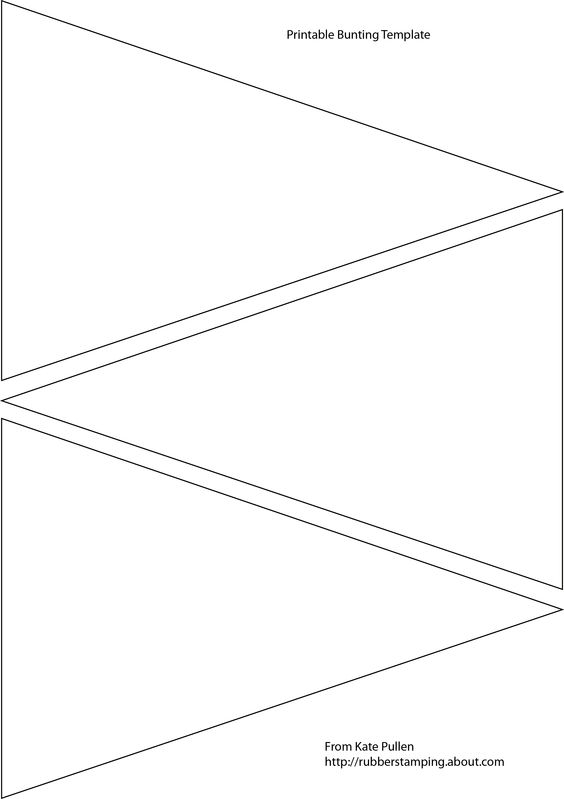 free paper bunting template