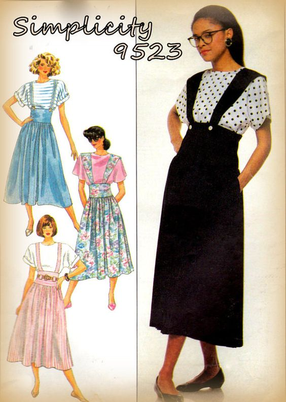 Vintage 1980s Simplicity 9523 Flared by mmmsvintagepatterns