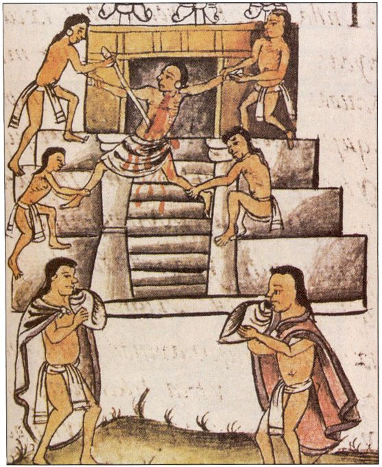 Human sacrifice of the aztecs