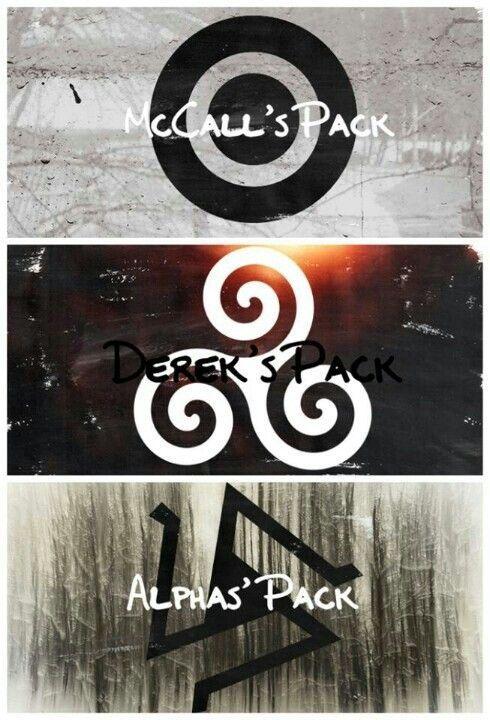 Scott McCall's Wolf Pack Symbol, Derek Hale's Wolf Pack Symbol and The Alpha Pack Symbol. #TeenWolf #TeenWolfSeason3