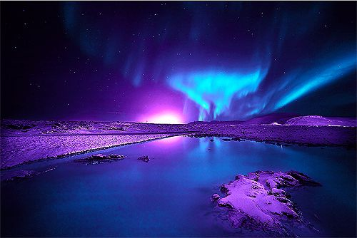 purple aurora borealis wallpapers x - photo #31
