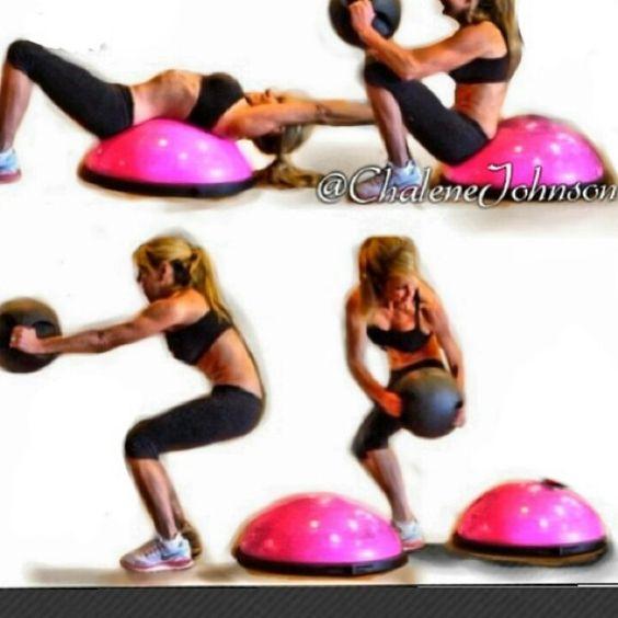 Bosu Ball Hiit: Chalene Johnson, Boxes And Workout On Pinterest