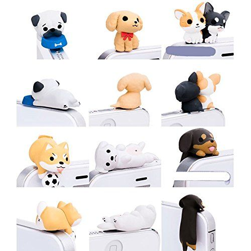 Little Puppy 3.5mm Dust Plug 6 Pcs of Jack Earphone Cap for iphone 6, iphone 5s/5/4s/4, Samsung S3 S4 S5