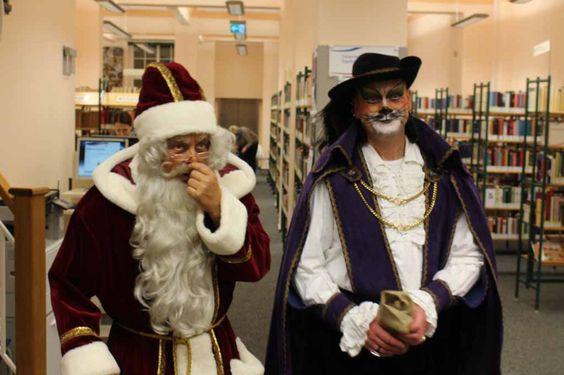 Fiete der Abenteuer – ein wunderschönes Kinderbuch | Der Weihnachtsmann und der gestiefelte Kater in der Stadtbibliothek Rostock (c) Frank Koebsch
