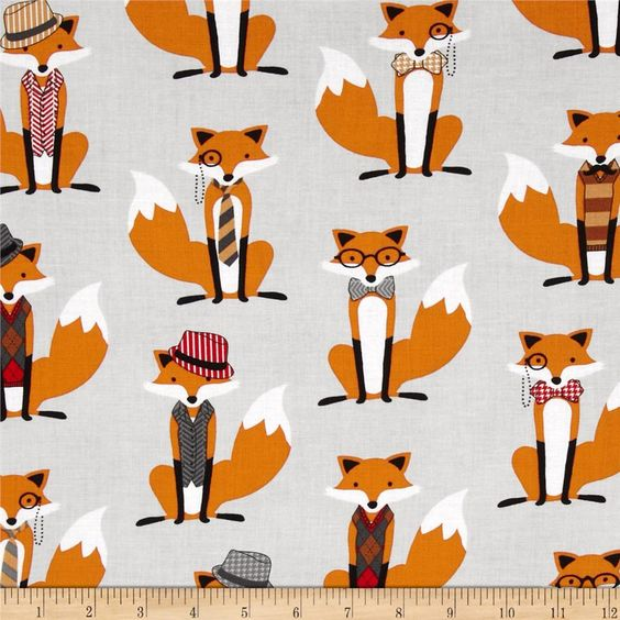 foxes yoga fabric - photo #14