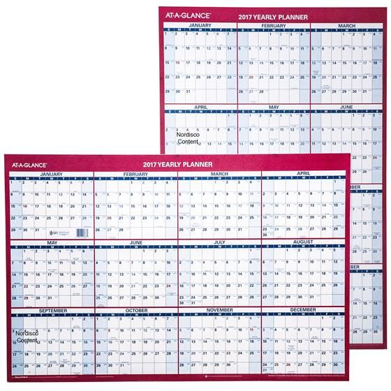 At-A-Glance 2017 Dry Erase Wall Calendar Conference Room - fiscal calendar