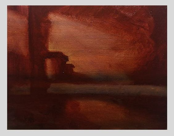 FuitfulDark: Invented Still Life - First Stage (Oil on Canvas, 10 x 8 inches)