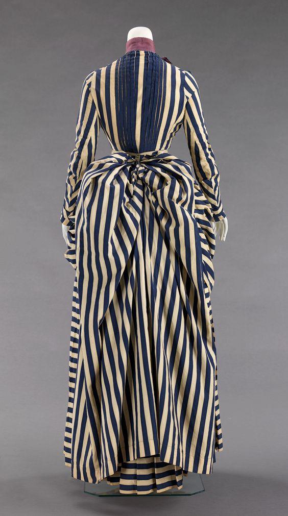 Dress Date: 1885–88 Culture: American Medium: cotton, silk