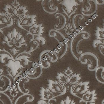 Palazzo Medallion in Chocolate color - Sheer Curtains to ...
