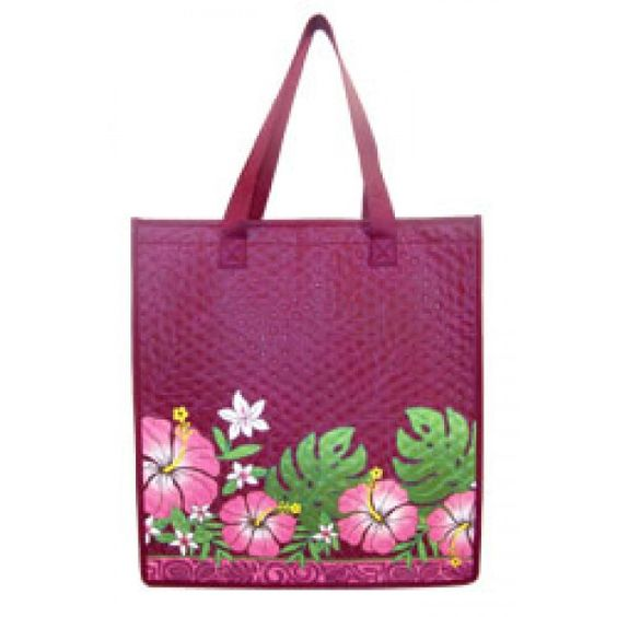 Insulated Tropical Bags - Hibiscus & Monstera