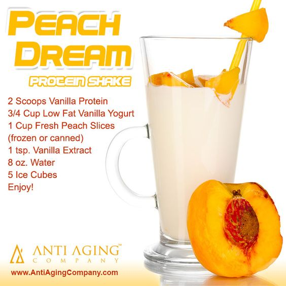 Peach Dream Protein Shake