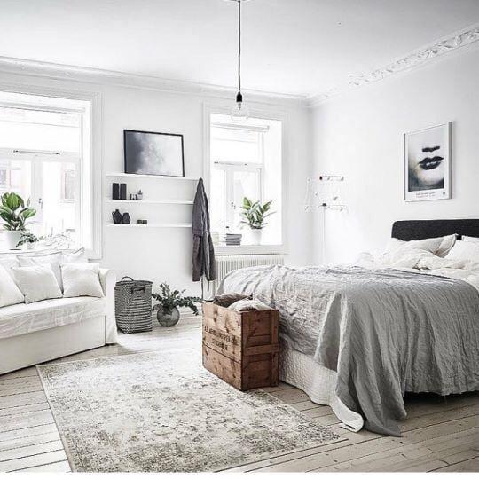 Imagine Decor Interior And Bedroom With Images Modern Scandinavian Bedroom Design Bedroom Interior Scandinavian Design Bedroom