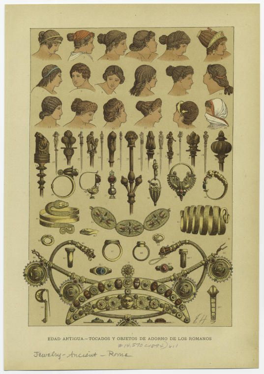 Roman jewelry and hairstyles: