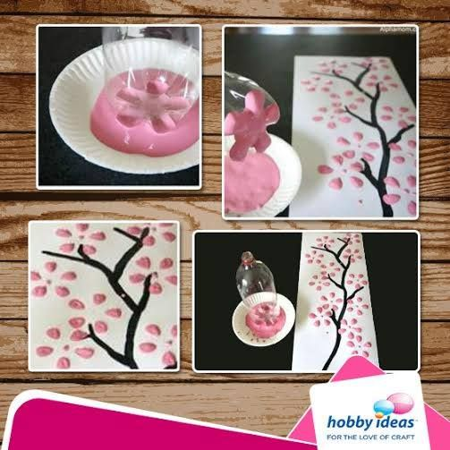 ‪#‎DIY‬: Thinking of making a painting to adorn your walls? Here's a simple trick! You can also use different coloured flowers and see the magic!