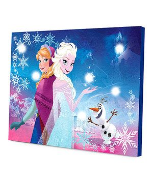 Love this Frozen LED Canvas by Frozen on #zulily! #zulilyfinds