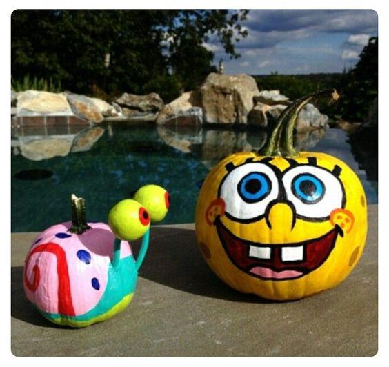 Spongebob & Gary pumpkins