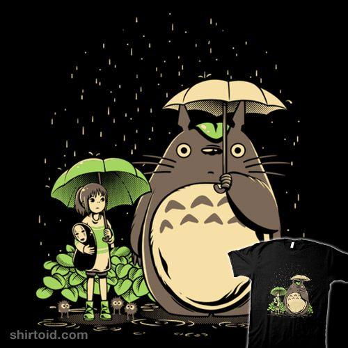 Chihiro And Totoro Totoro Totoro Umbrella I Love Anime