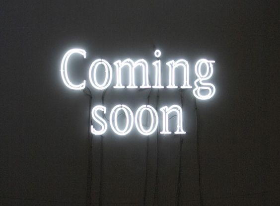 """""""Coming soon' neon by artist Pierre Bismuth"""