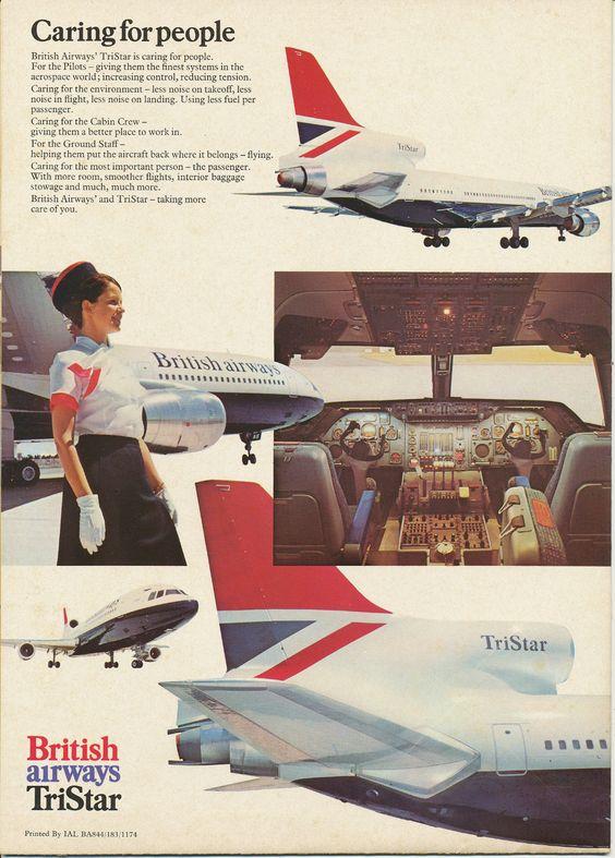 British Airways Tristar Ad