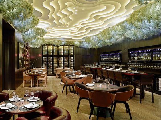 Creative restaurant interior design love the uniquely