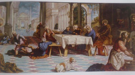 El lavatorio. Tintoretto, Jacopo Robusti.
