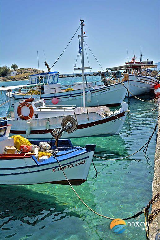 Fishing boats at Agia Anna, Naxos, Greece