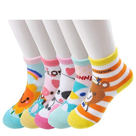 Set Of 6 Epeius Unisex Baby Girls Boys Non-Slip Socks