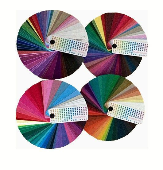 4x4 seasonal color fans swatch books seasonal color analysis and fans - Color Swatch Book
