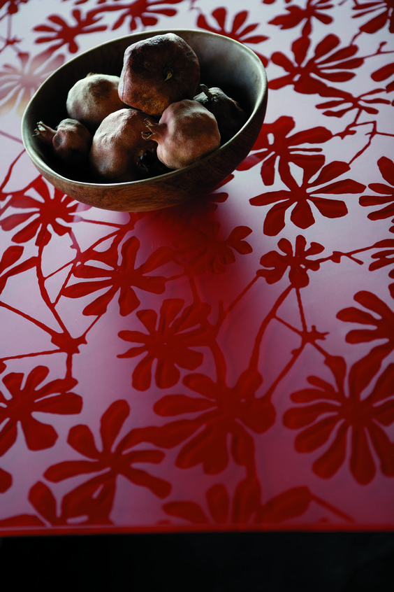 Rød Fiori som bord