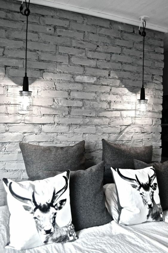 Reh-muster, Graues Schlafzimmer and Innenarchitektur on Pinterest