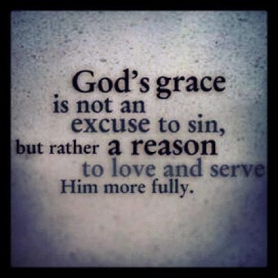 Grace...How can you not love Him more knowing you are saved by grace. You did nothing and can never do anything to deserve this gift.  More reason to Love our wonderful Lord and Savior!: