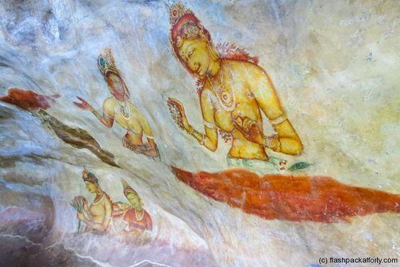Sigiriya rock cave paintings #srilanka #culturaltriangle #travel #travelphotography