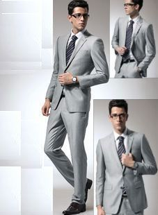 2 Button Gray Business Suit