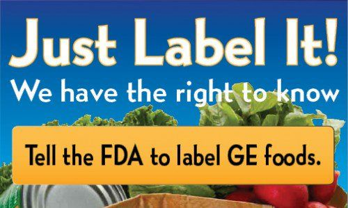 Tell The Fda Label Genetically Engineered Food Gmo Labeling Gmo Foods Gmos