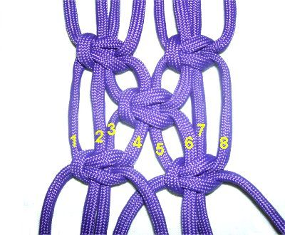 Macramé / Square Knots / Alternating SK & Net Design