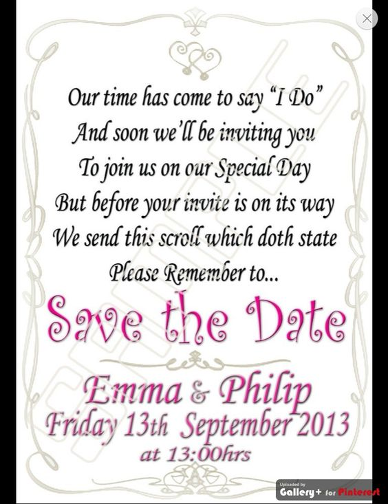 save the date scroll woth a sweet poem personalised many colours – Save the Date Poems for Weddings