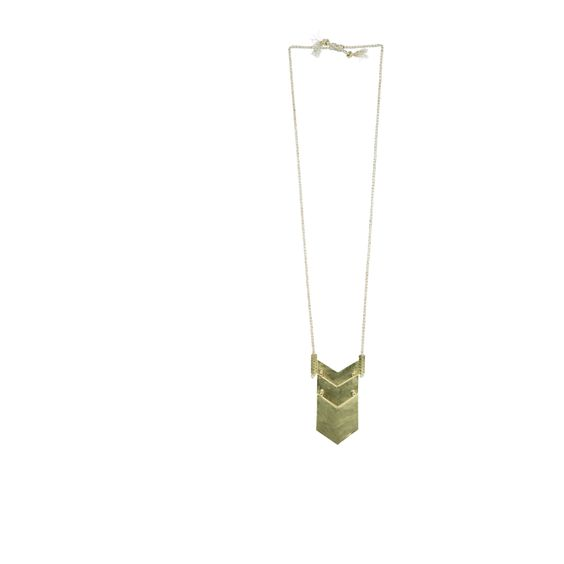 Collana lunga etnica in oro martellato donna | MAJE
